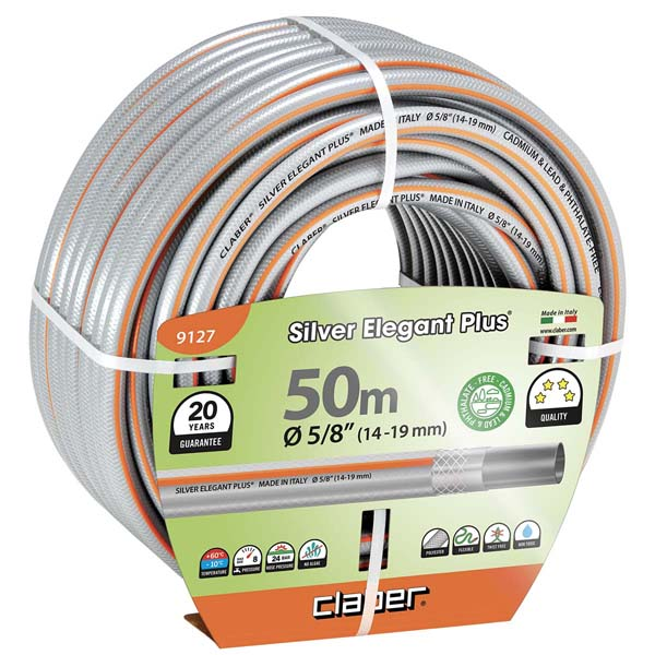 "Silver Elegant Plus Ø 5/8"" (14-19 mm) m 50"