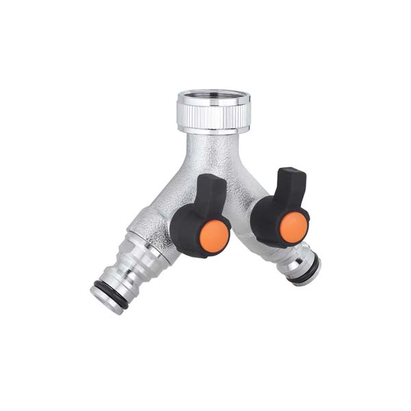 Adjustable two-way tap connector